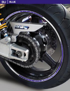 Rimstriping Ducati Hypermotard 1100 Red Motorbike Wheel Rim Stickers Decals